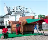 CT Mystic Santa chair on dock