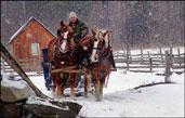Washburn Norlands Living History Center at Christmas