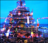 Lobster pot Christmas tree block island