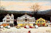Stockbridge Main Street at Christmas