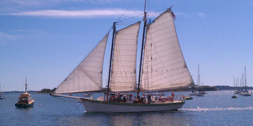 Cruising off Rathbun's Square 500x250 - Argia Mystic Cruises - Mystic, CT