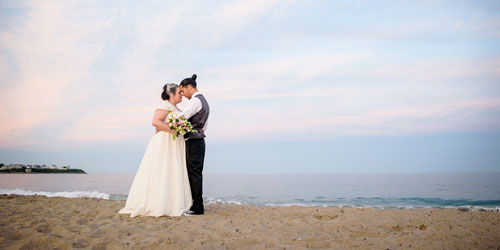 Intimate Beach Wedding Photo 500x250 - Ashworth By the Sea - Hampton, NH