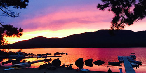 Stunning Sunset 500x250 - Attean Lake Lodge - Jackman, ME