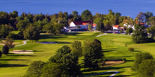 Golf Course Aerial View 500x250 - Basin Harbor Resort - Vergernnes, VT