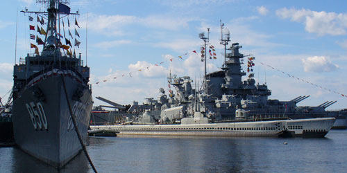 View from the Harbor 500x250 - Battleship Cove - Fall River, MA