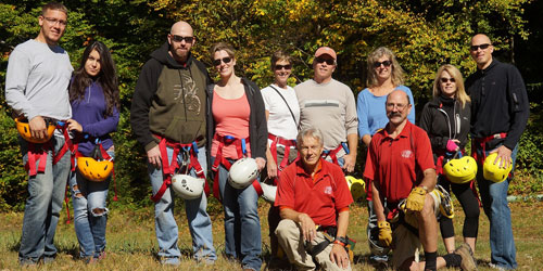 Zip Line Group 500x250 - Berkshire East Mountain Resort - Charlemont, MA