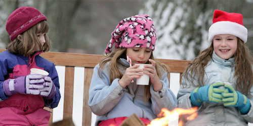 Kids with Hot Chocolate 500x250 - Berkshires Visitors Bureau - Photo Credit Ogden Gigli