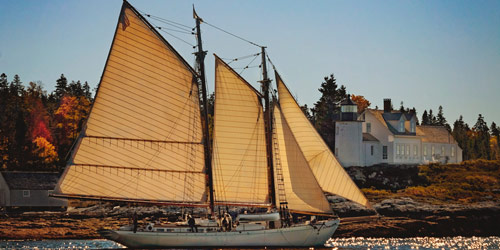 Schooner Ladona at Pumpkin Island - Maine Windjammers - Camden, ME - Photo Credit Tracy Sheppard