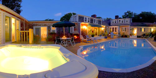 Evening Pool 500x250 - Lamb & Lion Inn - Barnstable, MA