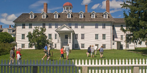 Dwelling House Spring-Summer 500x250 - Canterbury Shaker Village - Canterbury, NH