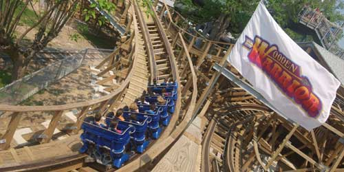 Wooden Warrior Rollercoaster Quassy Amusement & Water Park Middlebury Connecticut
