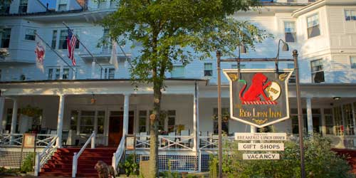 Exterior with Sign Red Lion Inn Stockbridge Massachusetts
