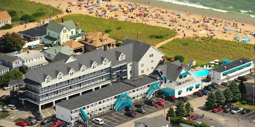Aerial View Sea Cliff House Old Orchard Beach, ME