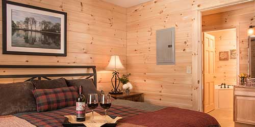 Romantic Room Sterling Ridge Log Cabin Resort Jeffersonville Vermont