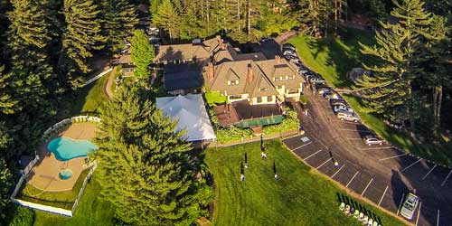 Aerial View Stonehurst Manor North Conway New Hampshire