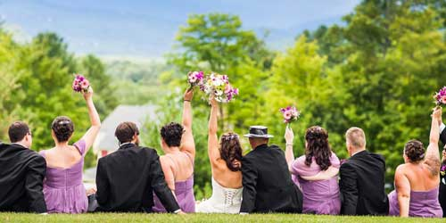 Wedding Outdoors Stonehurst Manor North Conway New Hampshire