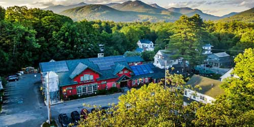 Aerial View - Woodstock Inn, Station & Brewery - North Woodstock, NH