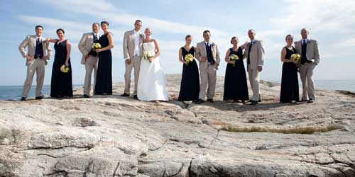 Wedding Party on the Rocks - Madison Beach Hotel - Madison, CT