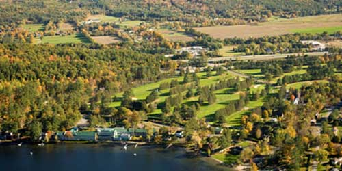 Aerial Golf Course - Lake Morey Resort - Fairlee, VT