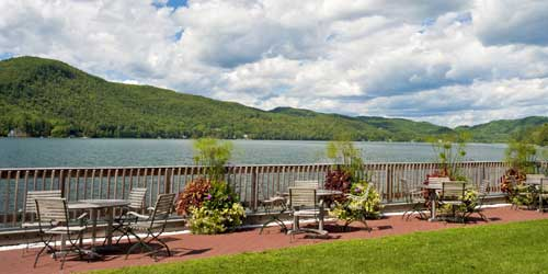 Lakeside Patio - Lake Morey Resort - Fairlee, VT