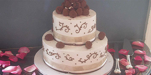 Truffle Wedding Cake 500x250 - Harbor Light Inn - Marblehead, MA