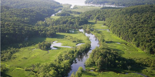 Aerial View 500x250 - Connecticut River Museum - Essex, CT