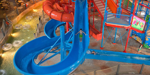 Water Slide View from Above 500x250 - CoCo Key Water Park Boston North Shore - Danvers, MA