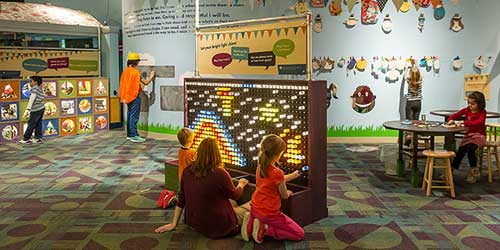Stepping Stones Museum for Children Lighted pegboard Norwlak CT