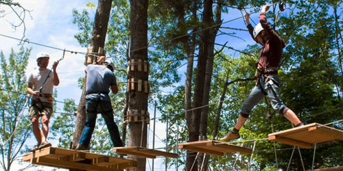 High Ropes Course Bridge 500x250 - ELC Outdoor Adventure Outpost - Errol, NH