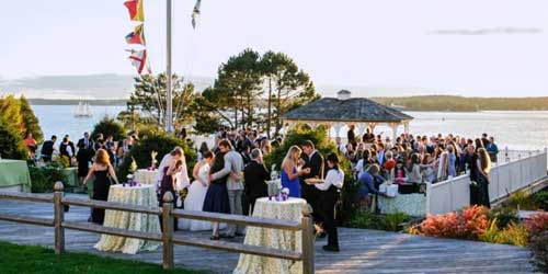 Waterfront Wedding Reception - Spruce Point Inn - Boothbay Harbor, ME