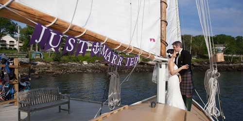 Spruce Point Inn Sailboat Wedding Boothbay Harbor ME