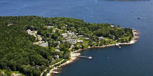 Spruce Point Inn Aerial Boothbay Harbor ME