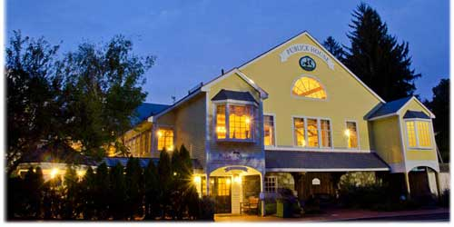 Publick House Historic Inn On the Common Exterior Twilight Sturbridge MA