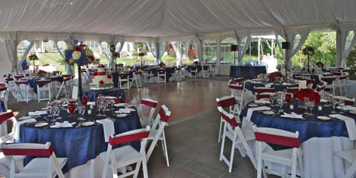 Publick House Historic Inn On the Common Wedding Tent Sturbridge MA