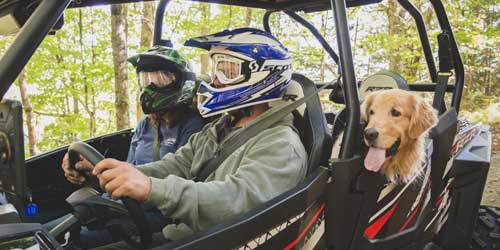 New Hampshire's Grand North Off Road with Dog Lancaster NH
