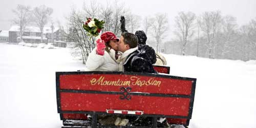 Winter Wedding Sleigh - Mountain Top Inn & Resort - Chittenden, VT