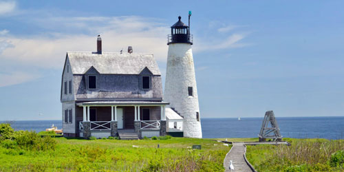 Wood Island Lighthouse tours off Biddeford maine