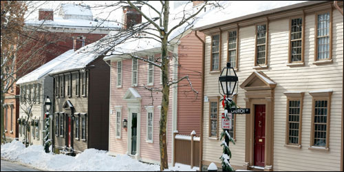 Benefit Street in Providence – Colonial New England