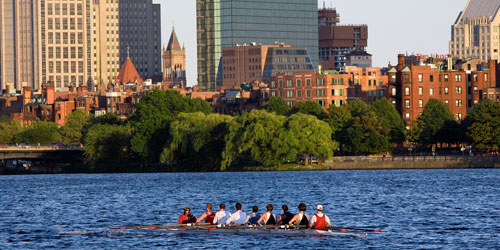 paddling the charles River in boston