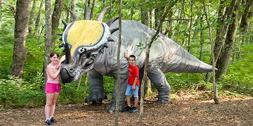 The Dinosaur Place at Nature's Art Village NE Great Things and Family Act Oakdale CT
