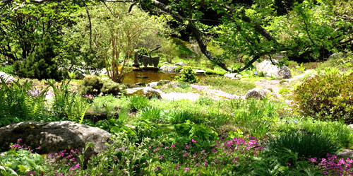 Gardens of Fells Estate in New Hampshire