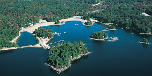 Aerial View - Point Sebago Golf Resort - Casco, ME