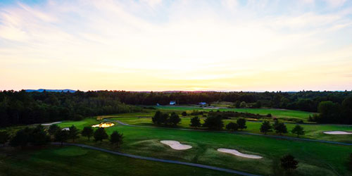 Golf Course at Dawn - Point Sebago Golf Resort - Casco, ME