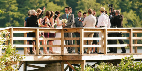 Dock Wedding - Point Sebago Golf Resort - Casco, ME