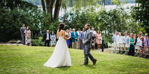 Outdoor Wedding - The Wolfeboro Inn - Wolfeboro, NH - Credit Callan Photo