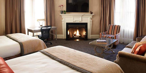 Executive Fireplace Room - Lenox Hotel - Boston, MA