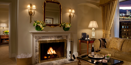 Romantic Suite & Fireplace - Taj Boston Hotel - Boston, MA