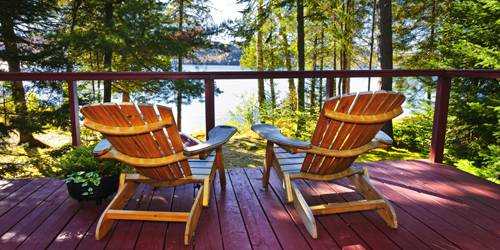 Lake View Deck Chairs - New England Lake Resorts