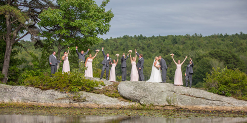 Wedding Party on the Rocks - Sebasco Harbor Resort - Sebasco Estates, ME