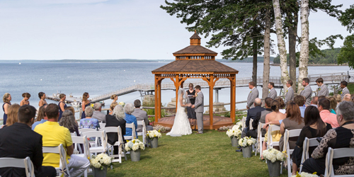 Waterfront Gazebo Wedding - Atlantic Oceanside Hotel & Event Center - Bar Harbor, ME